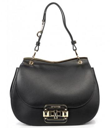 Кожаная сумка CROMIA 1404719 с откидным клапаном черная