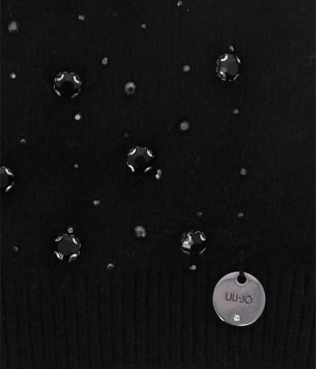 Шапка LIU JO 2F0074 черная с декором
