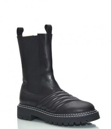 Высокие ботинки челси HELENA SORETTI 5262 на меху черные