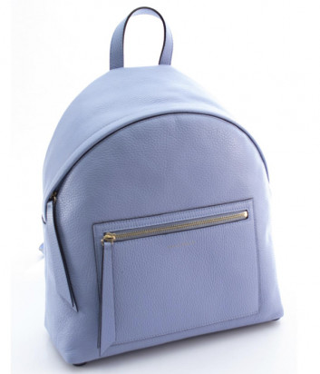 Кожаный рюкзак COCCINELLE Jen Medium с внешним карманом голубой