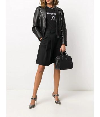 Кожаная сумка KARL LAGERFELD Ikonik 210W3074 со значком черная