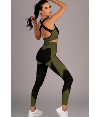 Спортивный костюм MERRIBEL 676-1756 черно-зеленый