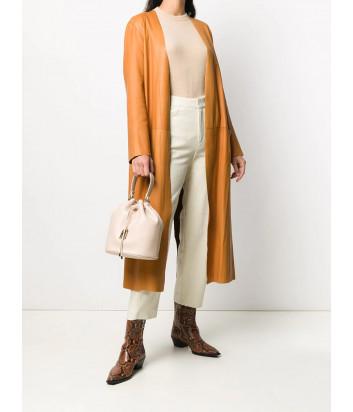 Кожаная сумка-мешок FURLA SLEEK BATBABR бежевая