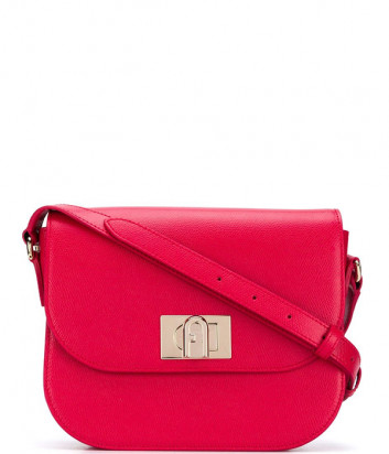 Кожаная сумка через плечо FURLA 1927 BAXPACO красная