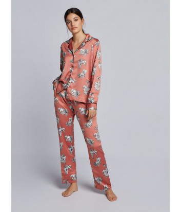 Женская пижама GISELA 31698 терракотовая с принтом