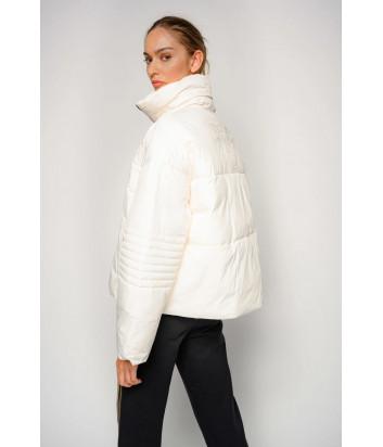 Короткая куртка-пуховик PINKO Fiore 1G1543 белая