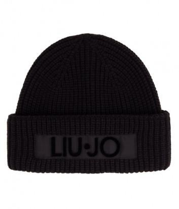 Шапка LIU JO 2F0036 черная с логотипом