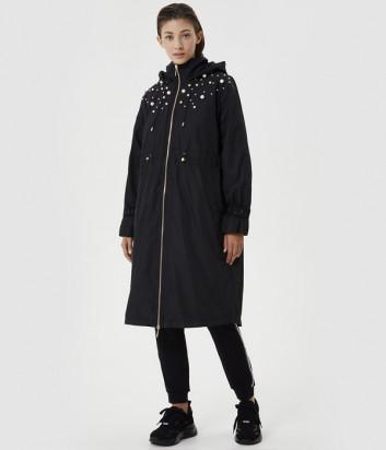 Утеплённая куртка LIU JO TF0014 с бусинами черная