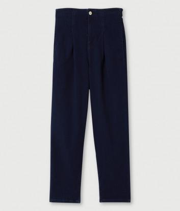 Джинсы mom fit LIU JO UF0051D4510 с пряжками синие