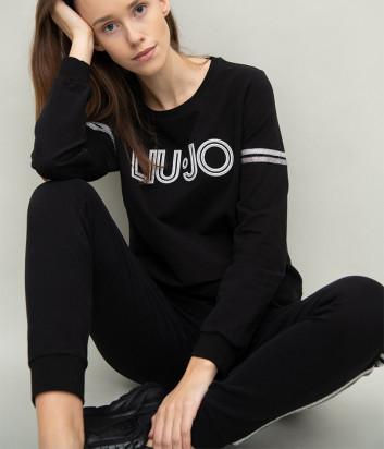 Спортивный костюм LIU JO TF0118/TF0119 черный с логотипом
