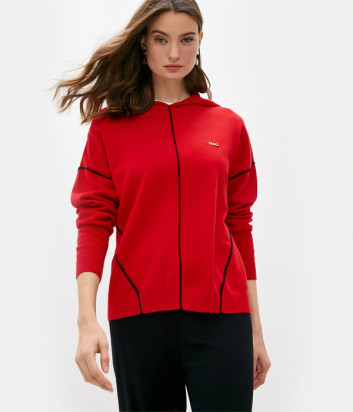 Джемпер с капюшоном LIU JO Sport TF0099MA10L красный