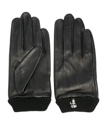Кожаные перчатки KARL LAGERFELD Ikonik 210W3609 черные