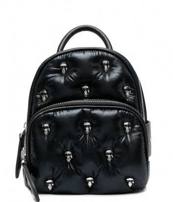 Черный рюкзак KARL LAGERFELD Ikonik 210W3098 из стёганого металлизированного нейлона
