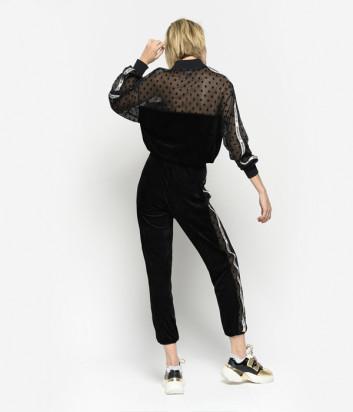 Блуза-олимпийка PINKO 1C105U черная в горох