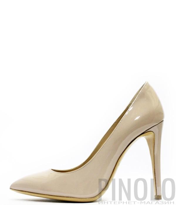 Классические туфли лодочки Emporio Armani из лаковой кожи цвета пудры f09657ad894