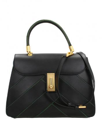 Кожаная сумка TOSCA BLU Diplomatica TF207B191 в стиле пэчворк черная