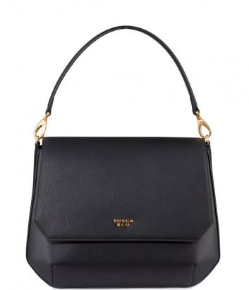 Кожаная сумка TOSCA BLU Cheesecake TF208B281 темно-коричневая