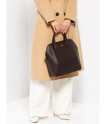 Кожаная сумка TOSCA BLU Cheesecake TF208B280 темно-коричневая