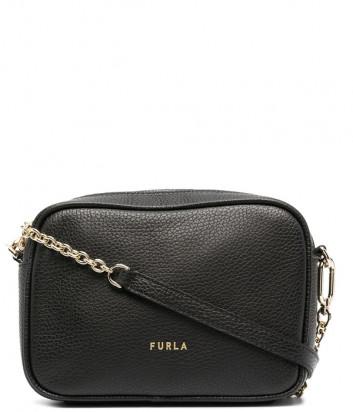 Кожаная сумка FURLA Real Mini WB00243 на цепочке черная