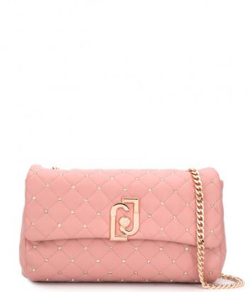 Стеганная сумка LIU JO AA0210E0041 на цепочке розовая