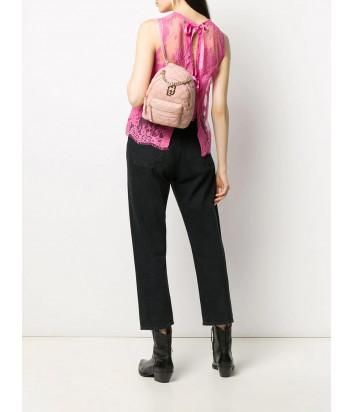 Стеганный рюкзак-сумка LIU JO AA0212E0041 с ручкой-цепочкой розовый