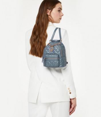 Стеганный рюкзак-сумка LIU JO AA0212E0041 с ручкой-цепочкой синий