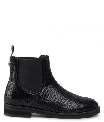 Кожаные ботинки LIU JO Taylor S69059PX048 с лазерной обработкой черные