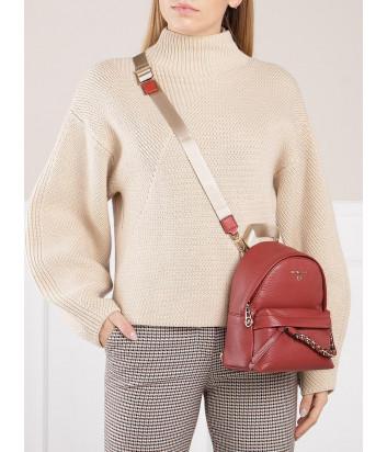 Кожаный рюкзак MICHAEL KORS Slater Xs 30T0G04B0L с внешним карманом терракотовый