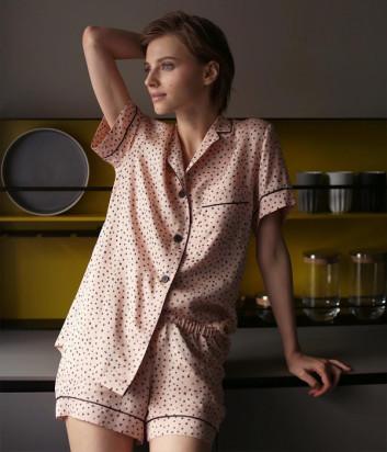 Комплект SUAVITE Грейс рубашка и шорты персиковый
