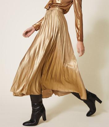 Плиссированная юбка TWIN-SET 202TT2196 золотая
