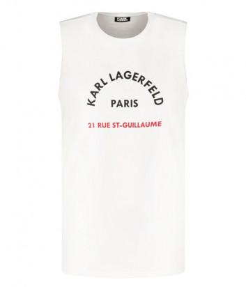 Майка KARL LAGERFELD 755070 511224 белая с логотипом