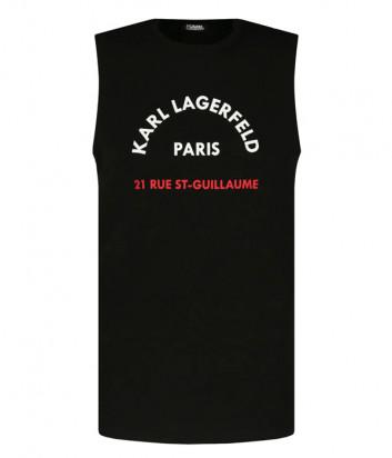 Майка KARL LAGERFELD 755070 511224 черная с логотипом