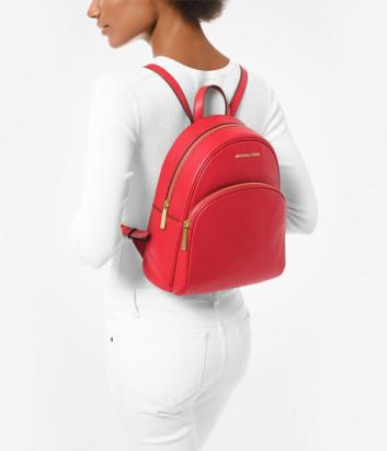 Кожаный рюкзак MICHAEL KORS Abbey 30S0GAYB6L с внешним карманом красный