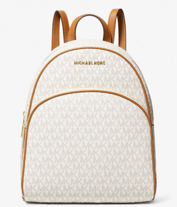 Рюкзак MICHAEL KORS Abbey Medium Logo 30H0GAYB6B ванильный с рыжим кантом