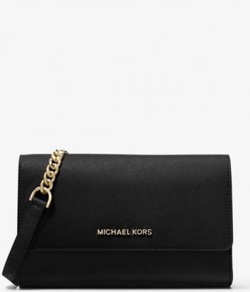 Кожаная сумка MICHAEL KORS Jet Set 35S9GTVC3L со съемным кошельком черная