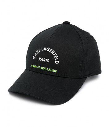 Бейсболка KARL LAGERFELD 805623 511123 черная с логотипом
