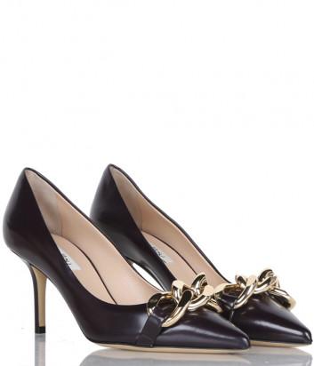 Кожаные туфли NINALILOU 302544 черные с декором