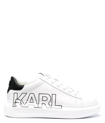 Белые кроссовки KARL LAGERFELD KL62511 с надписями