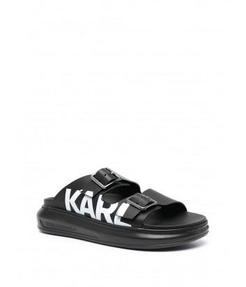 Кожаные сандалии KARL LAGERFELD KL62505 без задника черные