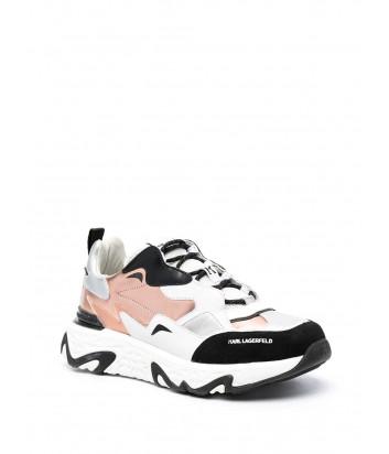 Белые кроссовки KARL LAGERFELD KL62421 с цветными вставками