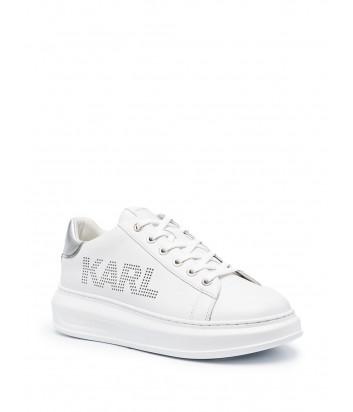 Белые кроссовки KARL LAGERFELD KL62520 с надписями