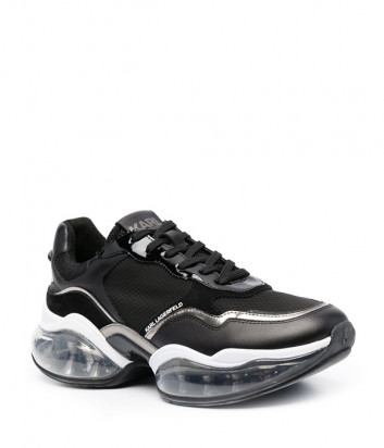 Черные кроссовки KARL LAGERFELD Ventura 2 KL62720 на массивной прозрачной подошве