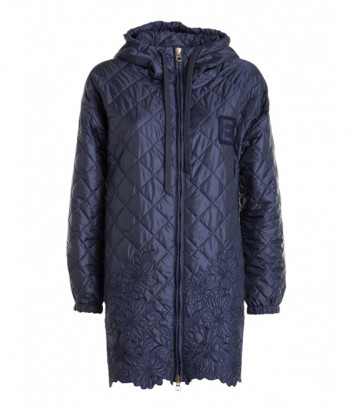 Куртка ERMANNO ERMANNO SCERVINO D38ET CP21TRA стеганная с вышивкой синяя