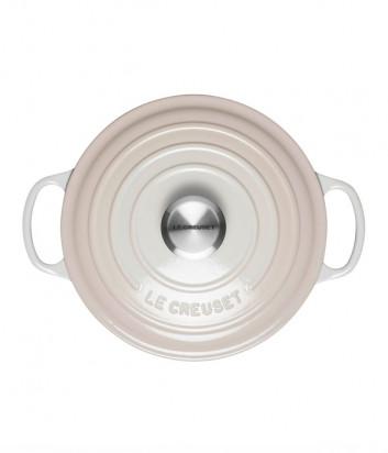 Чугунная кастрюля LE CREUSET эмалированная с толстым дном (4,2 л/24 см) светло-розовая