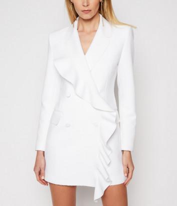 Платье-блейзер MSGM 3041MDA09 с оборками белое