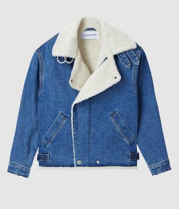 Джинсовая куртка CALVIN KLEIN Jeans J20J214566 с искусственным мехом