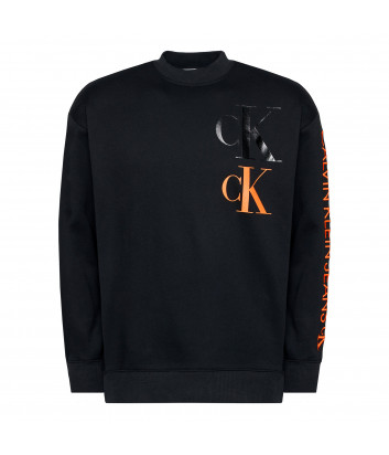 Свитшот CALVIN KLEIN Jeans J30J316806 черный с логотипом