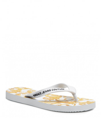 Вьетнамки VERSACE Jeans Couture E0VWASQ7 белые с принтом