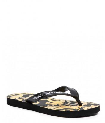 Вьетнамки VERSACE Jeans Couture E0VWASQ7 черные с принтом