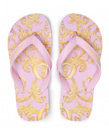 Вьетнамки VERSACE Jeans Couture E0VWASQ7 розовые с принтом